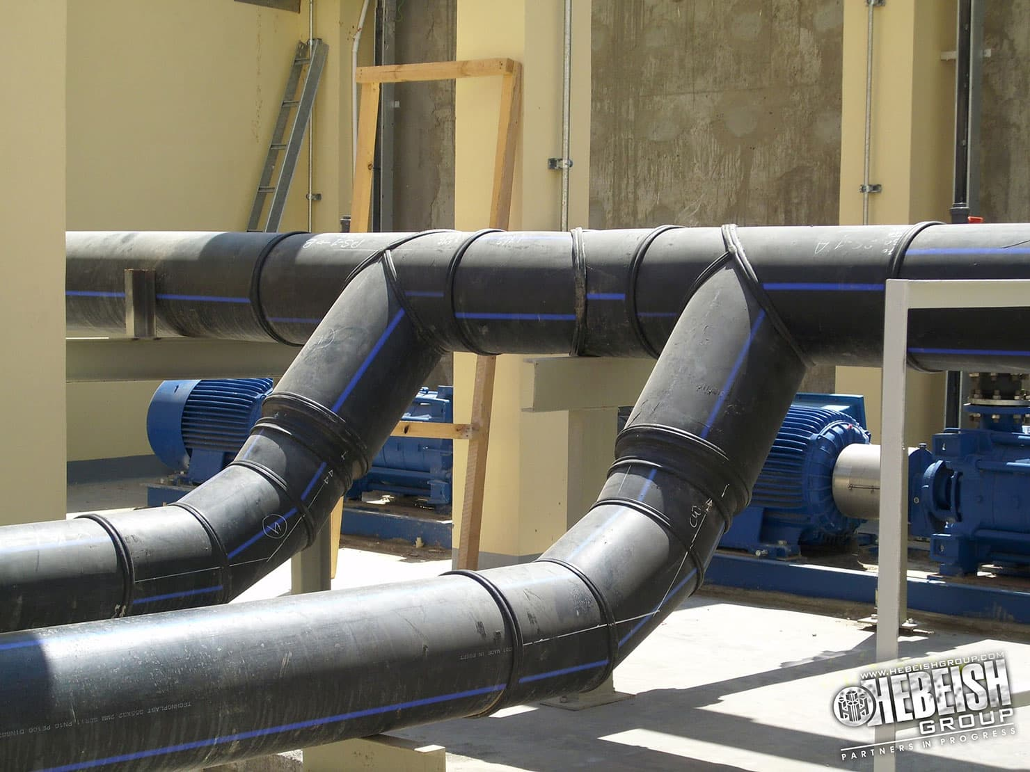 Hdpe full piping solution pe pipes fittings welding
